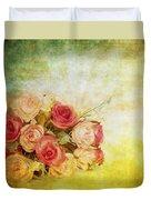 Roses Pattern Retro Design Duvet Cover