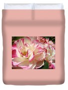 Roses Pink White Rose Flowers 4 Rose Garden Artwork Baslee Troutman Duvet Cover