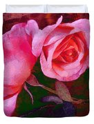Roses Silked Pink Vegged Out Duvet Cover