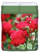 Roses Spring Scene Duvet Cover