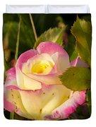 Roses Warm Hearts Duvet Cover