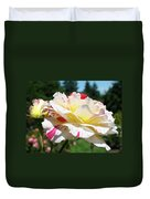Roses White Pink Yellow Rose Flowers 3 Rose Garden Art Baslee Troutman Duvet Cover