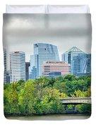 Rosslyn Distric Arlington Skyline Across River From Washington D Duvet Cover