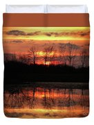Rosy Mist Sunrise Duvet Cover