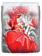 Rosy Swirl Duvet Cover