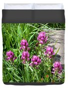 Rosy Wildflowers Duvet Cover