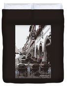 Rothenburg Cafe - Digital Duvet Cover