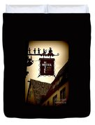 Rothenburg Hotel Sign - Digital Duvet Cover
