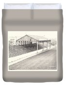 Rotherham - Millmoor - Millmoor Lane Stand 1 - Bw - April 1970 Duvet Cover