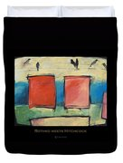 Rothko Meets Hitchcock - Poster Duvet Cover