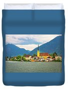 Rottach Egern On Tegernsee Architecture And Nature View Duvet Cover