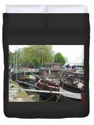 Rotterdam Silence By The Docks Duvet Cover