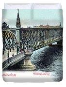 Rotterdam Oude Willemsbrug 1890 Duvet Cover