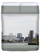 Rotterdam Skyline With Euromast  Duvet Cover