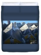 Rotterdam - The Cube Houses And Skyline Duvet Cover