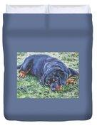 Rottweiler Puppy Duvet Cover