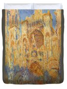 Rouen Cathedral, Facade, Sunset Duvet Cover