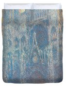 Rouen Cathedral, The Portal, Morning Light Duvet Cover