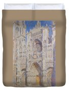 Rouen Cathedral, The Portal, Sunlight Duvet Cover