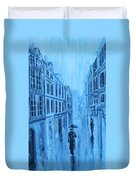 Rouen In The Rain Duvet Cover