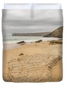 Rough But Golden At The End Of The World Duvet Cover