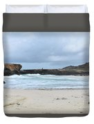 Rough Churning Waters Off The Coast Of Aruba Duvet Cover