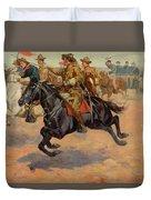 Rough Riders Cavalry Duvet Cover