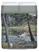 Rough River At Times  Duvet Cover