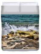 Rough Seas At Blowing Rock Duvet Cover