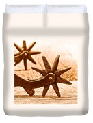 Rough Spurs - Sepia Duvet Cover