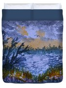 Rough Sunrise At Orange Creek Duvet Cover
