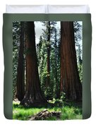 Round Meadow Sequoia Family Portrait Duvet Cover