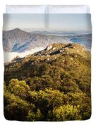 Round Mountain Lookout Duvet Cover
