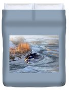 Round The Bend Duvet Cover