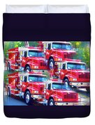 Round Top Vol. Fire Co. Inc. New York 8 Duvet Cover