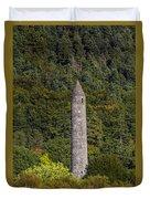 Round Tower At Glendalough Duvet Cover