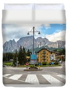 Roundabout Cortina D'ampezzo  Duvet Cover