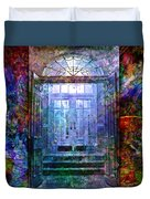 Rounded Doors Duvet Cover by Barbara Berney