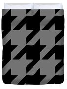 Rounded Houndstooth Black Pattern 03-p0123 Duvet Cover