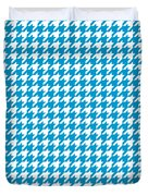 Rounded Houndstooth White Pattern 18-p0123 Duvet Cover