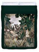 Rousseau: Jungle, 1909 Duvet Cover