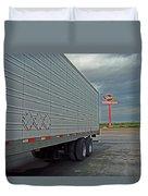 Route 66 - Dixie Truck Stop Duvet Cover