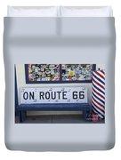 Route 66 Bench Duvet Cover