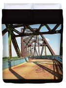 Route 66 - Chain Of Rocks Bridge Duvet Cover