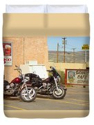 Route 66 - Grants New Mexico Motorcycles Duvet Cover