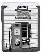 Route 66 - Illinois Vintage Pump Bw Duvet Cover
