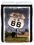 Route 66 Museum - Impressions Duvet Cover