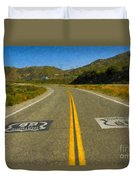 Route 66 National Historic Road Duvet Cover