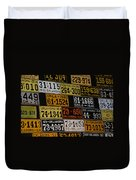 Route 66 Oklahoma Car Tags Duvet Cover