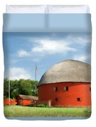 Route 66 Round Barn Duvet Cover